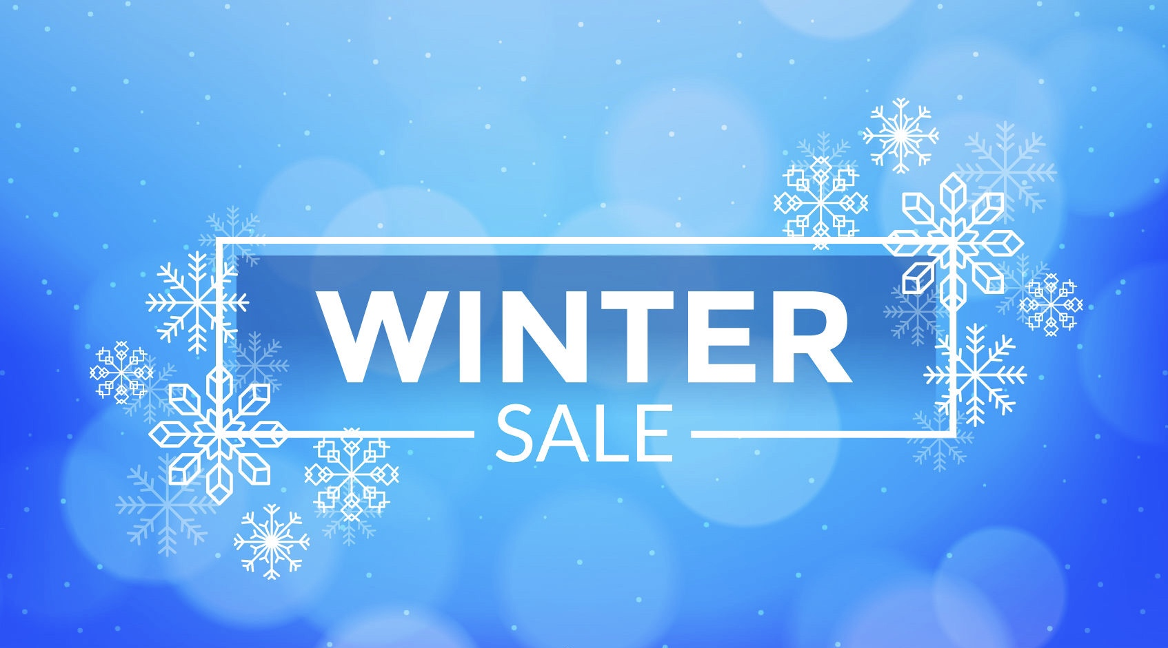 winter sales banner